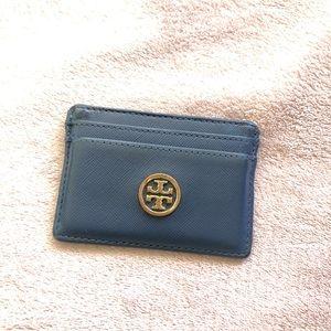 Navy Blue Tory Burch card holder